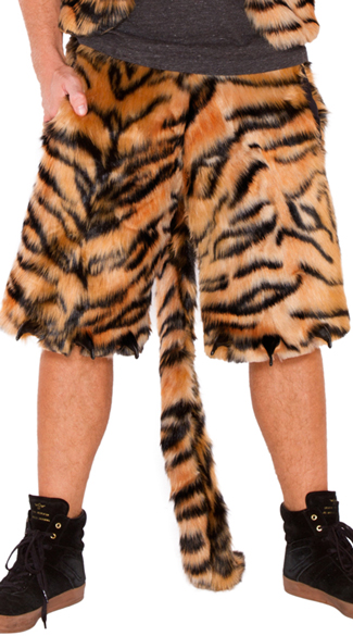 Men\'s Furry Tiger Shorts, Furry Tiger Shorts, Furry Shorts