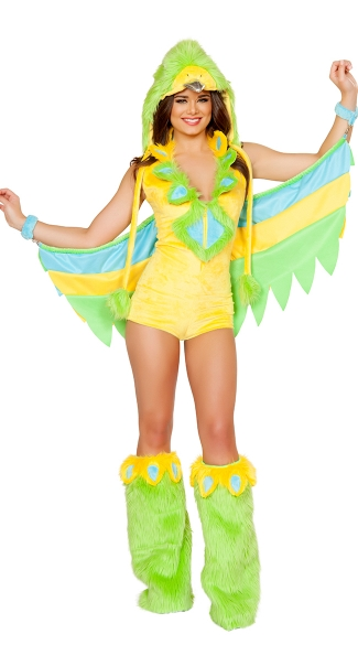 Exclusive Sexy Parakeet Costume, Bird Costume, Bird Halloween Costume