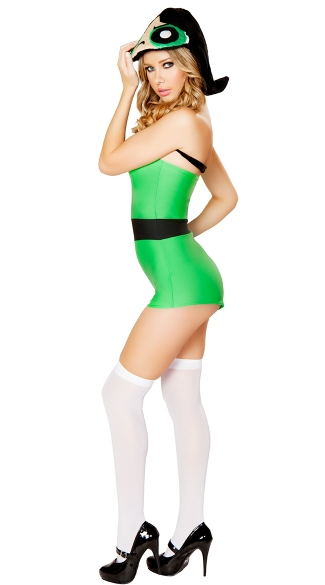 Green Anime Girl Romper