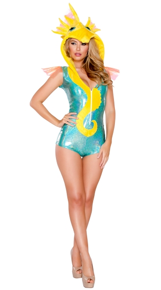 Deluxe Sexy Seahorse Costume, Seahorse Romper Costume, Sexy Seahorse Costume