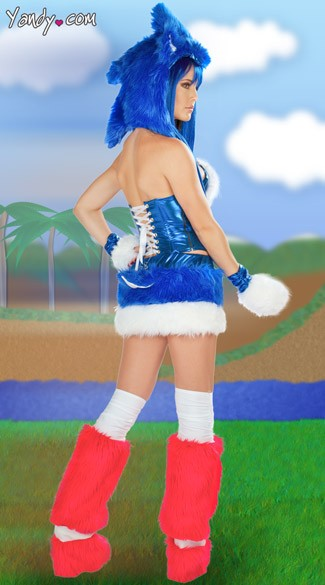 Blue Furry Corset and Skirt