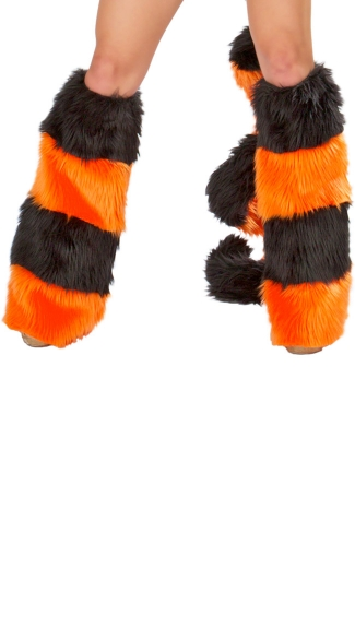 Tiger Costume Legwarmers, Costumes with Leg Warmers, Furry Leg Warmers