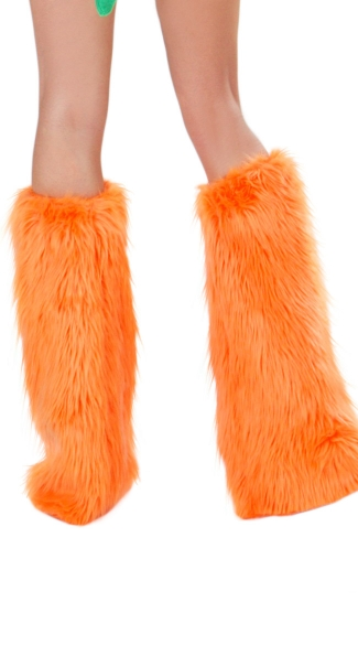 Orange Dinosaur Legwarmers