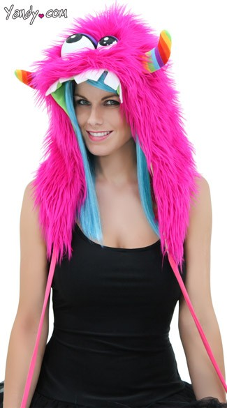 Exclusive Pink Monster Hood