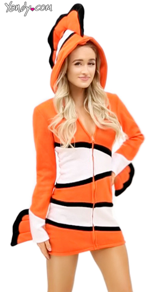 Cozy Orange Fish Costume