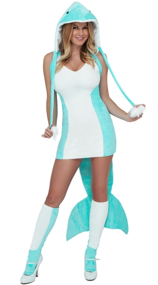 Sexy dolphin costume dolphin halloween costume fish costume for Sexy fish costume