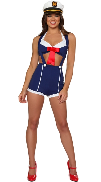 Pinup Sailor Costume, Sexy Pin Up Sailor Costume, Sexy Pin Up Military Costume