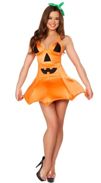 Sexy Pumpkin Costume, Sexy Orange Pumpkin Costume, Sexy