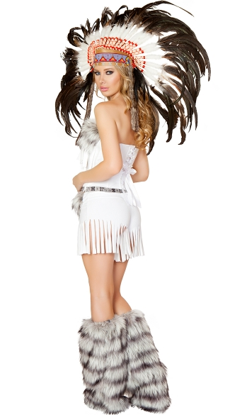 Deluxe White Indian Costume