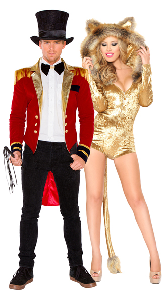 Lion Tamer Couples Costume, Cecil the Lion Costume, Velvet Lion Costume, Lion Halloween Costume, Mr. Ringmaster Costume, Circus Halloween Costume, Men\'s Ringmaster Halloween Costume