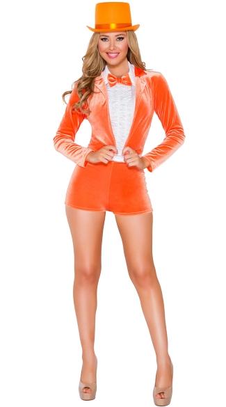 Funny Man Orange Tuxedo Costume Women S Orange Tuxedo