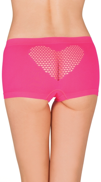 Heart Back Seamless Boyshort, Seamless Boyshort, Boyshort with Hear Cut-Put
