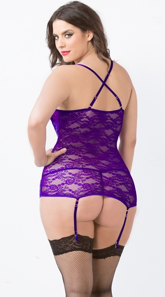 Plus Size Lace Merrywidow