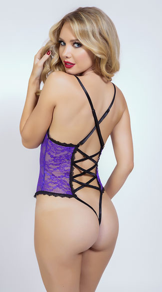 Sexy Purple Lace Teddy