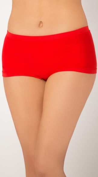 Plus Size Heart Back Seamless Boyshort