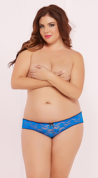 Plus Size Ruffled Lace Panty