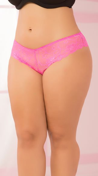 Plus Size Heart Cut Out Panty