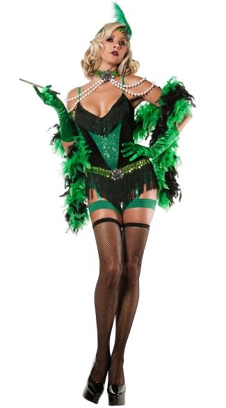 Emerald Flapper Costume 20s Flapper Costume Sexy Flapper