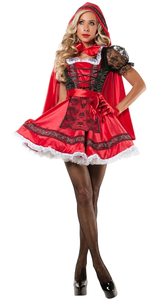 Sweet Little Red Costume, Sexy Red Ridding Hood Costume, Adult Red Ridding Costume