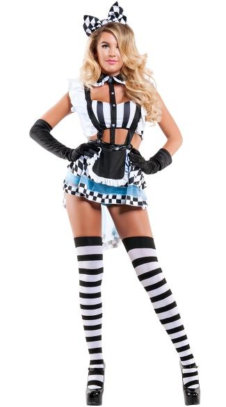 Eat Me Alice Costume Sexy Alice Costume Adult Alice Halloween Costume