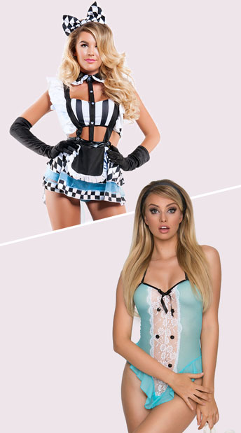 Eat Me Alice Costume, Sexy Alice Costume, Adult Alice Halloween Costume, Yandy Wonderland Fantasy Princess Lingerie Costume, sexy Alice lingerie costume - Yandy.com