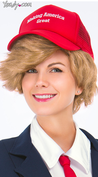Making America Great Hat, Donna T Rumpshaker Hat, Red Politician Hat