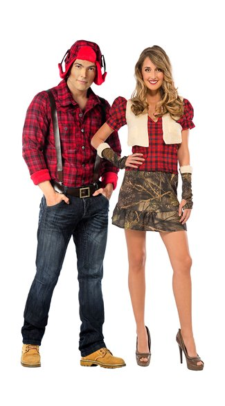 Paul Bunyan Costume, Men\'s Lumberjack Costume, Paul Bunyan Halloween Costume, Huntress Costume, Sexy Camo Costume, Women\'s Camo Halloween Costume