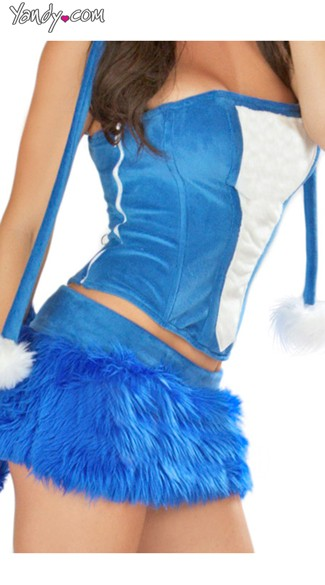 Royal Blue Rave Bear Corset and Skirt