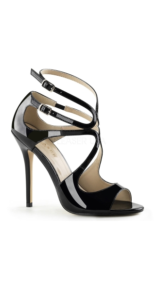 Sultry Vixen Strappy Stilettos, Strappy Peep Toe Shoes