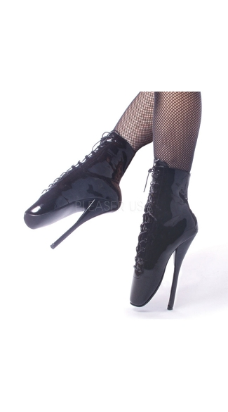 7 Inch Lace Up Ballet Ankle Boots