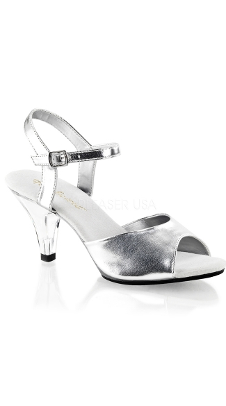 "3"" Heel Ankle Strap Simple Sandal"
