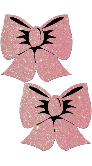 Baby Pink Glittering Bow Pasties