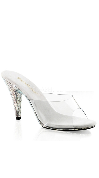 "Rhinestone Bottom Clear 4"" Heel, Sexy Rhinestone Bottom Shoe - Yandy.com"