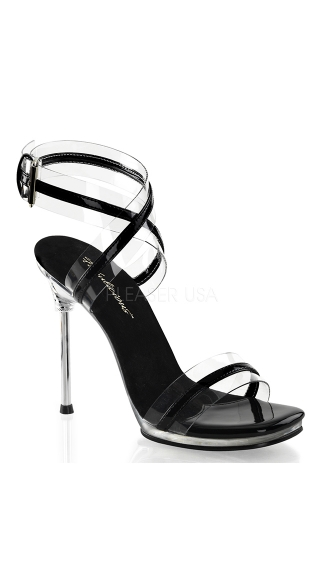 "4 1/2"" Heel Wrap Around Ankle Strap Sandal"