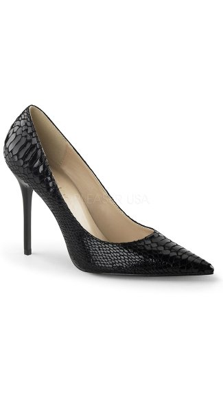Snake Print Pointy Stiletto Pump