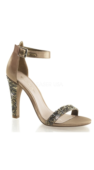 Park Avenue Satin Glitter Evening Sandal