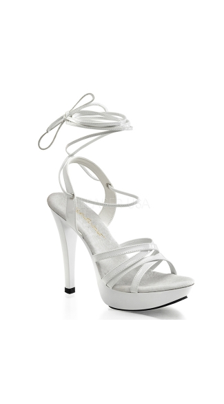 "5"" Heel with Criss-Cross Ankle Wrap"