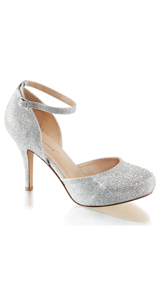 "Rhinestone Embellished 3.5"" Pumps, Sparkly Pumps, Three inch Heels"