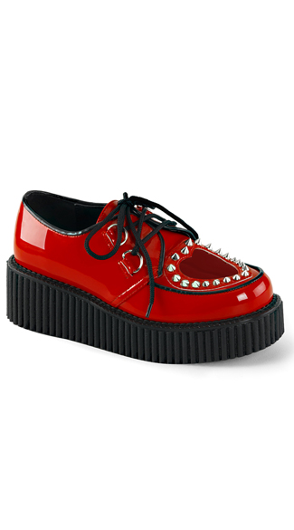 "2"" Creeper Shoes with Heart Cutout"
