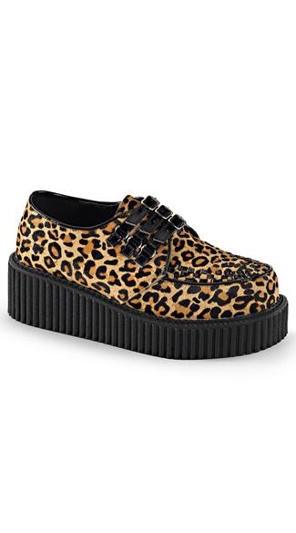 cheetah print creeper platform shoes creeper