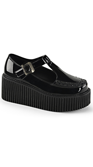 Patent Leather Mary Jane Creeper Shoe