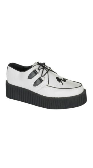 "Mens 2"" Platform Creeper with Truckgirl Detail"
