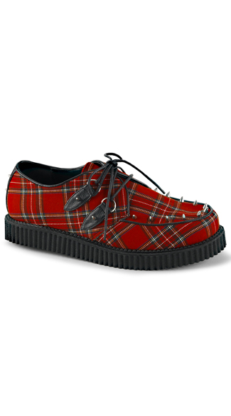 Classic Plaid Creeper Shoes