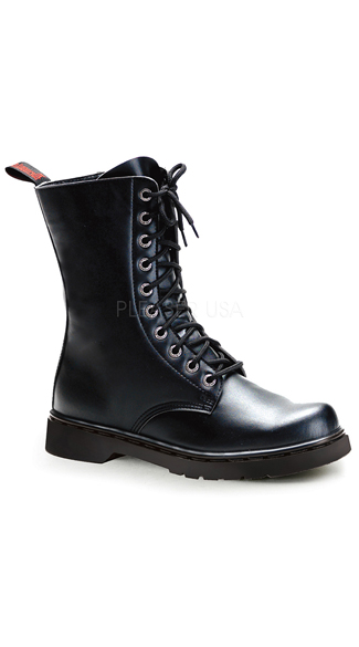 black leather combat boots with zipper black combat boots