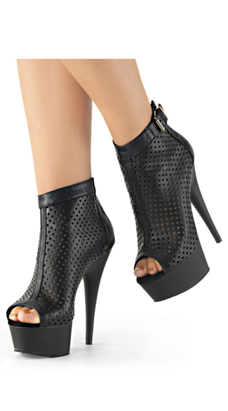 Lattice Cutout Bootie, Peep Toe Booties, Peep Toe Ankle Booties