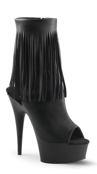 Suede Fringed Ankle Boot