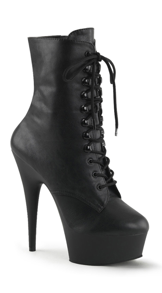 "6"" Lace-up Pf Ankle Boot, Side Zip"