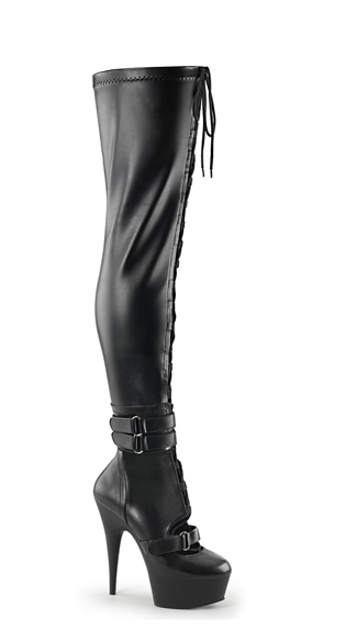 "6"" Lace-Up Thigh High Boots, Thigh Highs Boots, Lace Up Thigh High Boots"