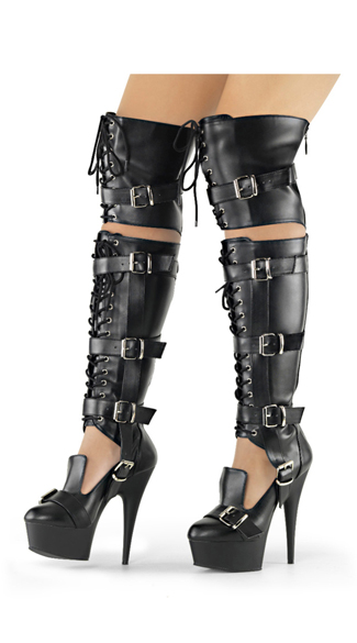 "6"" Over-The-Knee Lace-Up Boots"