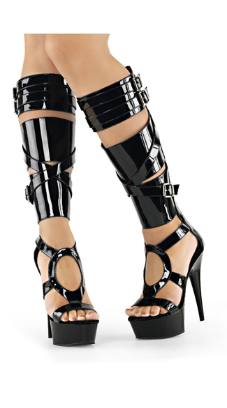 "6"" Thick Strapped Gladiator Sandals"